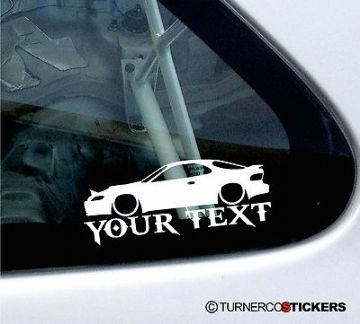 Custom Text / Name - LOW Toyota celica (T180) ST 185 GT-Four car Sticker / Decal